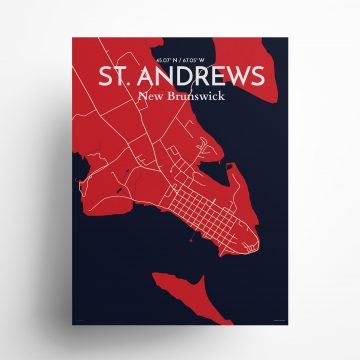 """St. Andrews city map poster in Nautical of size 18"""" x 24"""""""