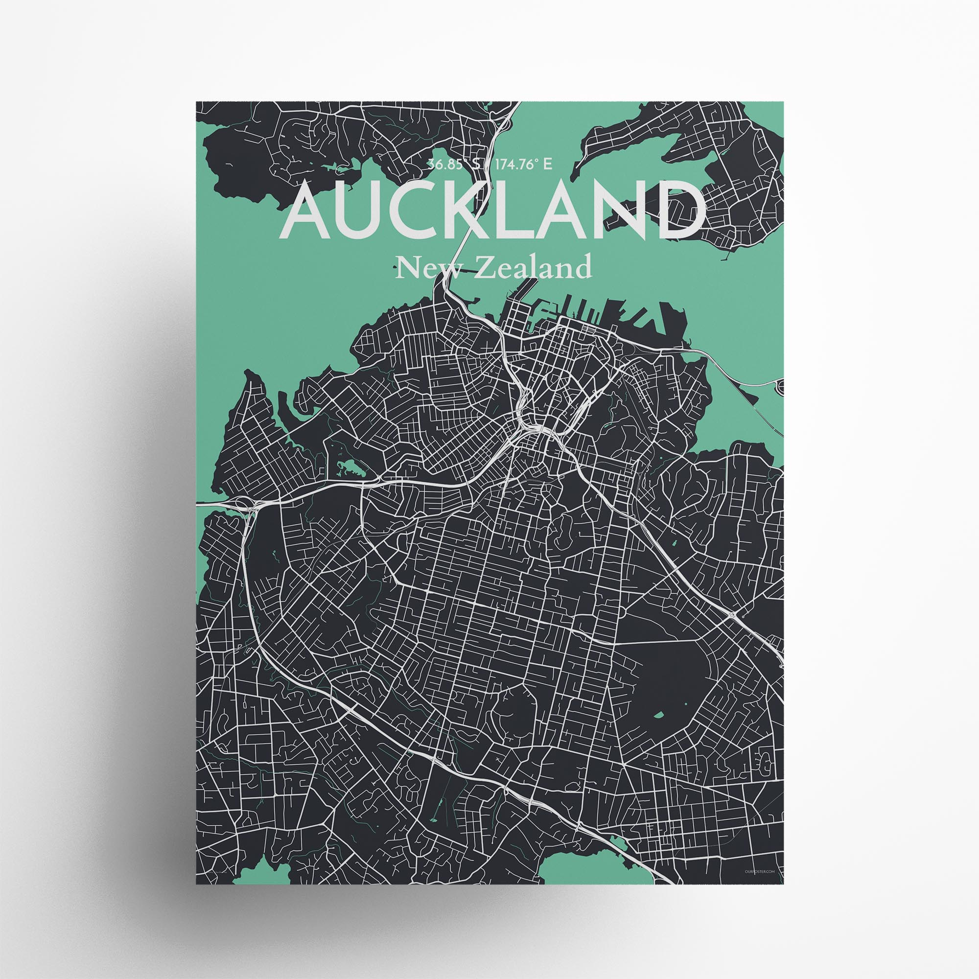 "Auckland city map poster in Dream of size 18"" x 24"""