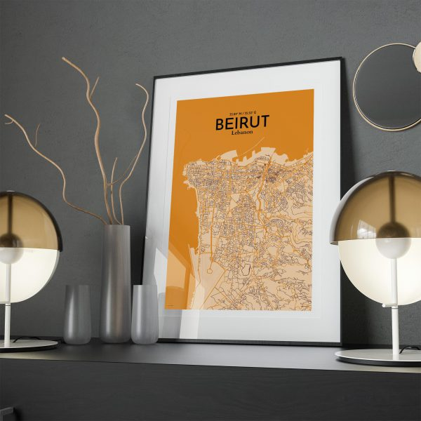 Beirut City Map Poster by OurPoster.com