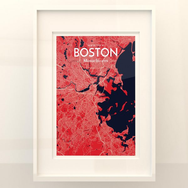 Boston City Map Poster by OurPoster.com