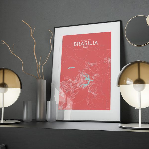 Brasília City Map Poster by OurPoster.com