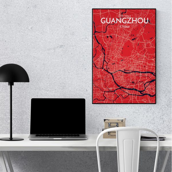 Guangzhou City Map Poster by OurPoster.com