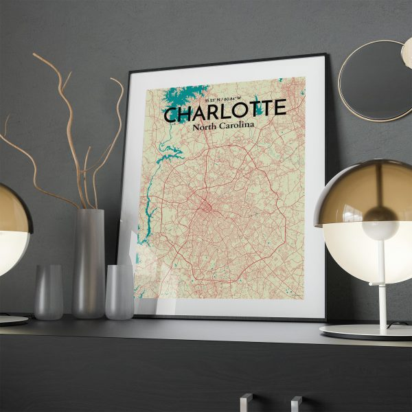 Charlotte City Map Poster by OurPoster.com