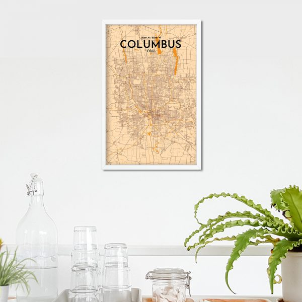 Columbus City Map Poster by OurPoster.com