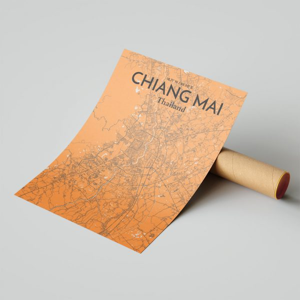 Chiang Mai City Map Poster by OurPoster.com