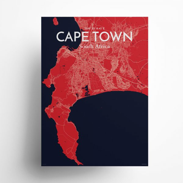 Cape Town City Map Poster by OurPoster.com