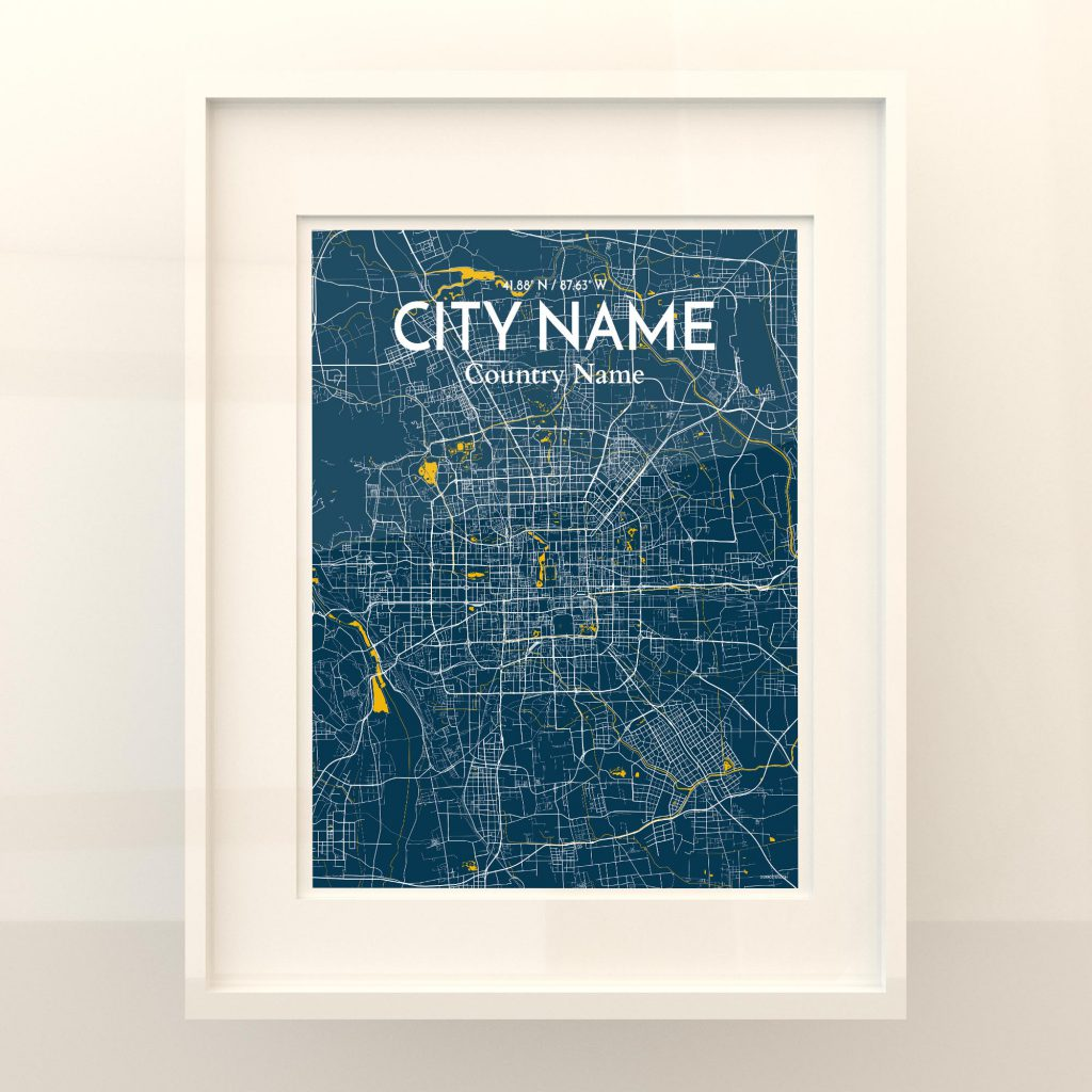 City Name City Map Poster by OurPoster.com