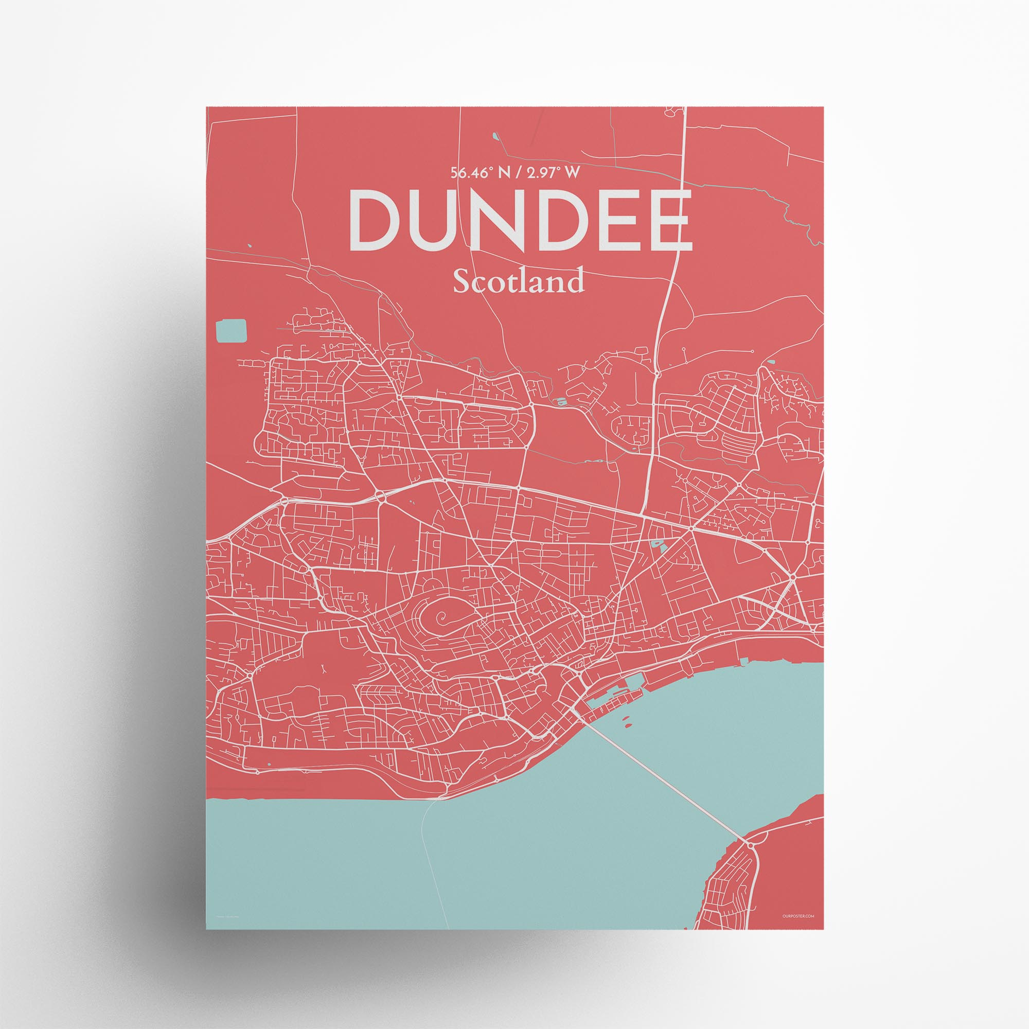 "Dundee city map poster in Maritime of size 18"" x 24"""
