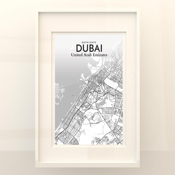 Dubai City Map Poster by OurPoster.com