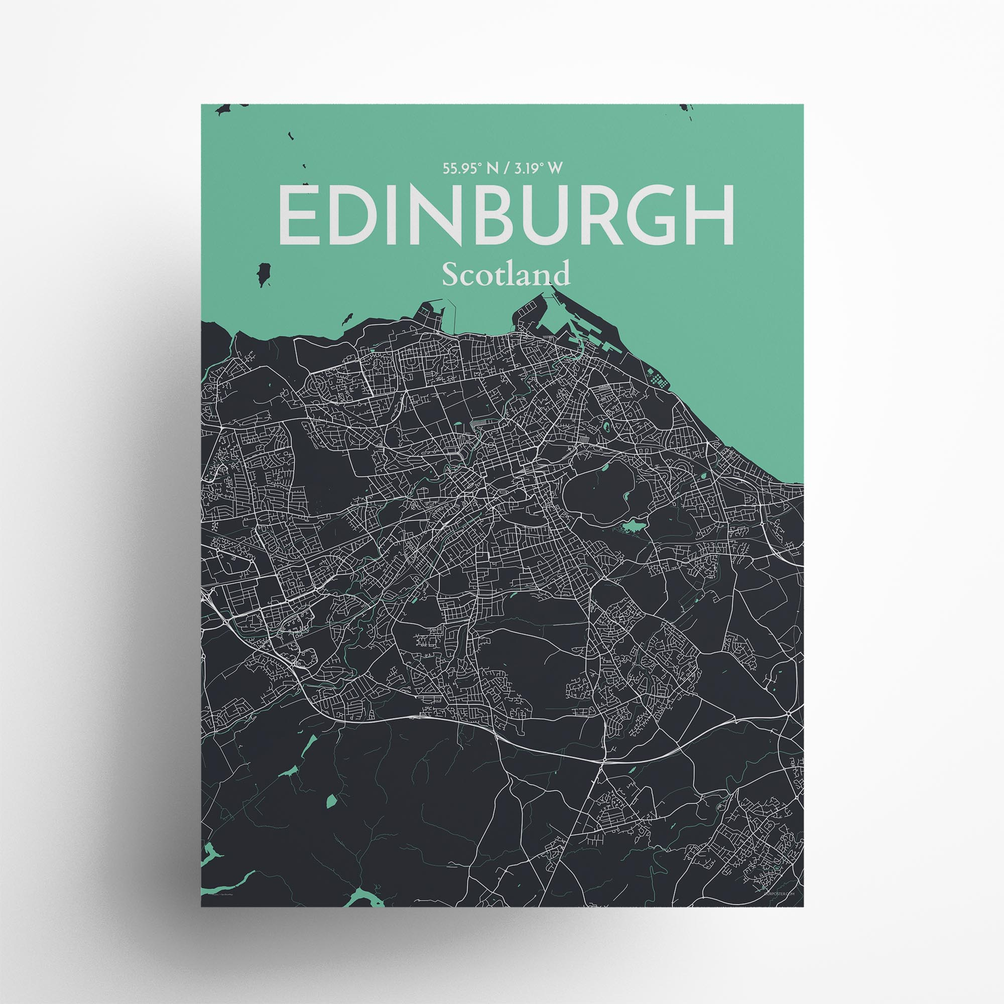 "Edinburgh city map poster in Dream of size 18"" x 24"""