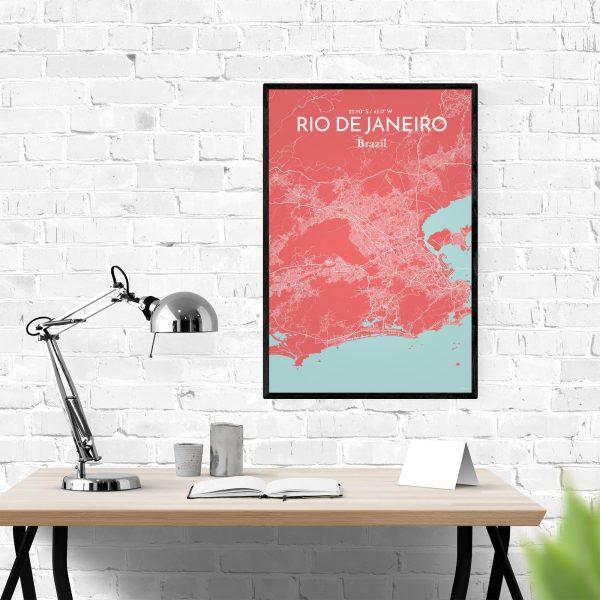 Rio de Janeiro City Map Poster by OurPoster.com