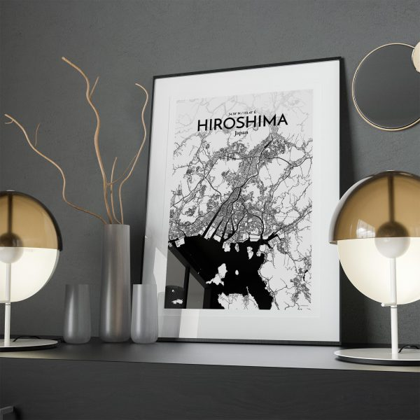 Hiroshima City Map Poster by OurPoster.com
