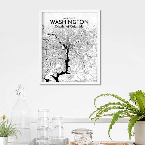 Washington City Map Poster by OurPoster.com