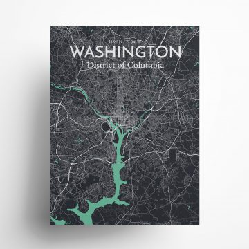 """Washington city map poster in Dream of size 18"""" x 24"""""""