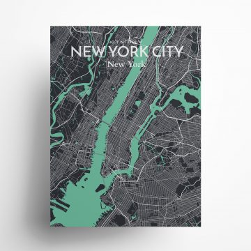 """New York City city map poster in Dream of size 18"""" x 24"""""""