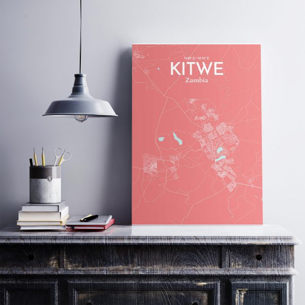 Kitwe City Map Poster by OurPoster.com