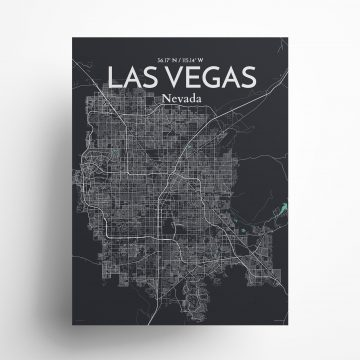 """Las Vegas city map poster in Dream of size 18"""" x 24"""""""