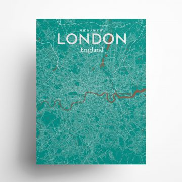 "London city map poster in Nature of size 18"" x 24"""