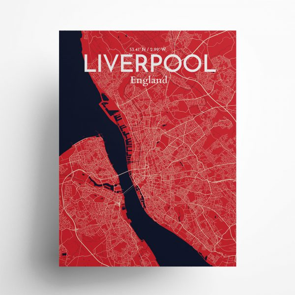 Liverpool City Map Poster by OurPoster.com
