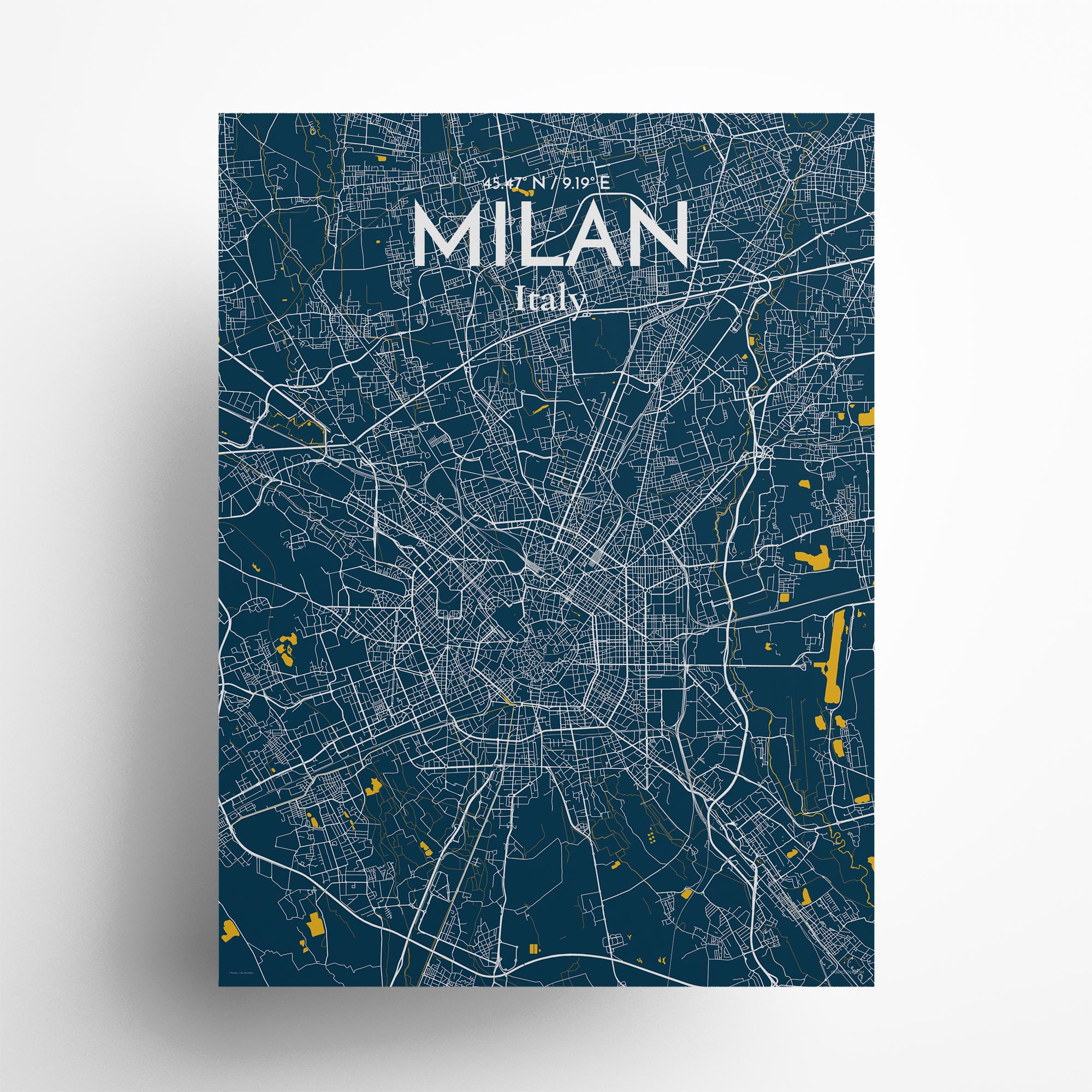 """Milan city map poster in Amuse of size 18"""" x 24"""""""