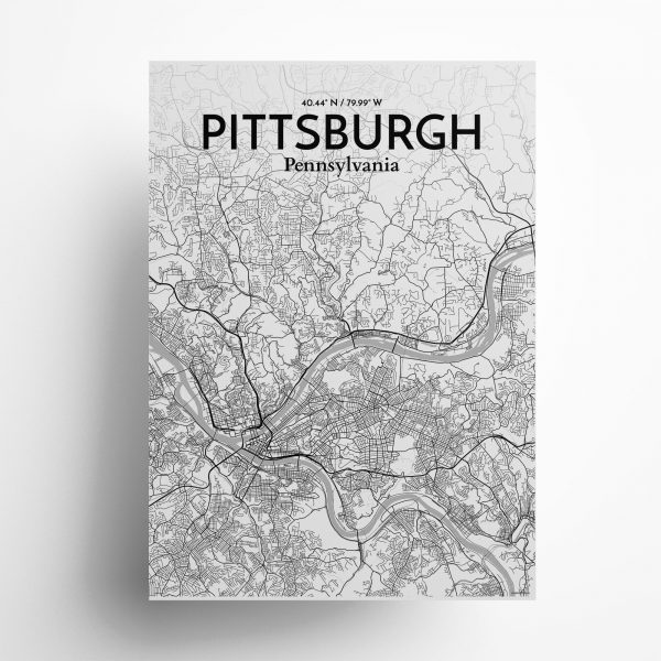 Pittsburgh City Map Poster by OurPoster.com