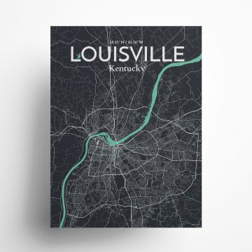 """Louisville city map poster in Dream of size 18"""" x 24"""""""
