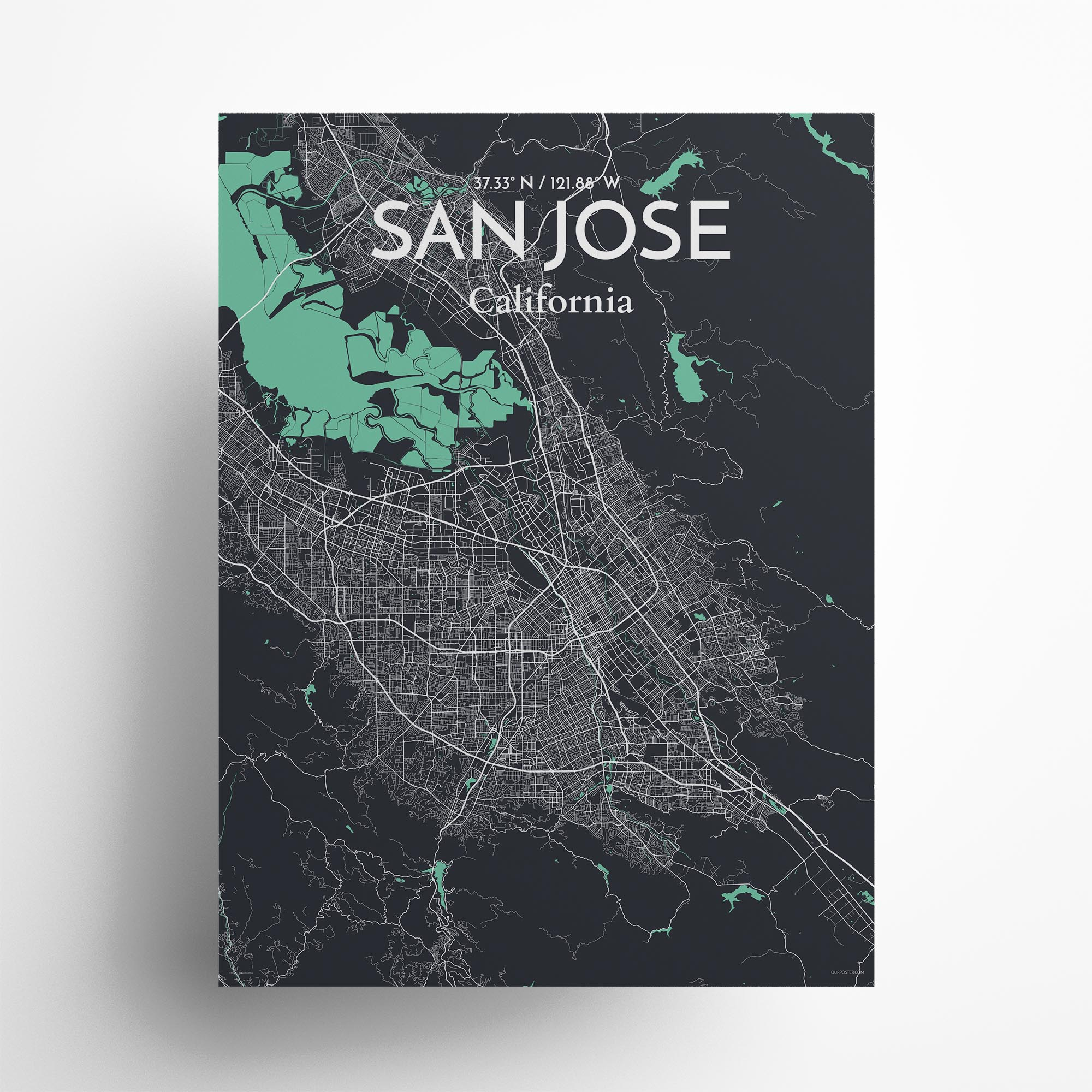 "San Jose city map poster in Dream of size 18"" x 24"""