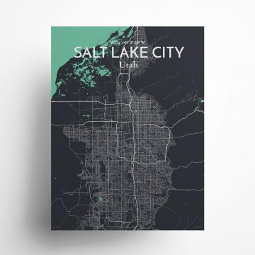 """Salt Lake City city map poster in Dream of size 18"""" x 24"""""""