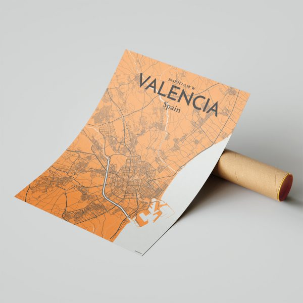 Valencia City Map Poster by OurPoster.com