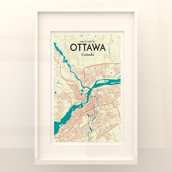 Ottawa City Map Poster by OurPoster.com