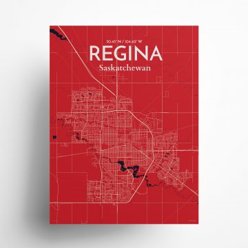 """Regina city map poster in Nautical of size 18"""" x 24"""""""