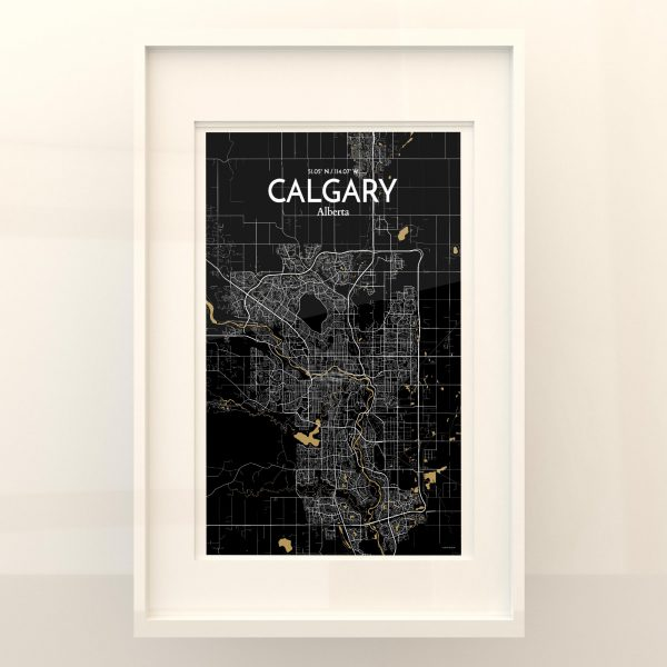 Calgary City Map Poster by OurPoster.com