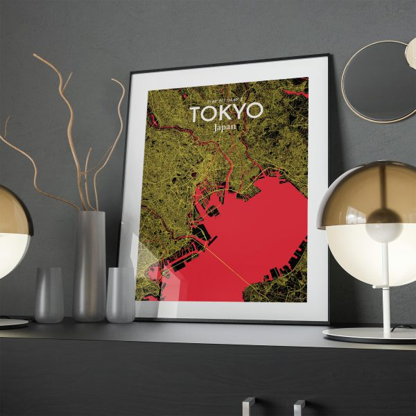 Tokyo City Map Poster by OurPoster.com