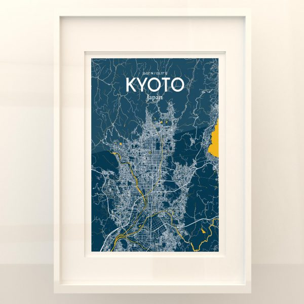 Kyoto City Map Poster by OurPoster.com