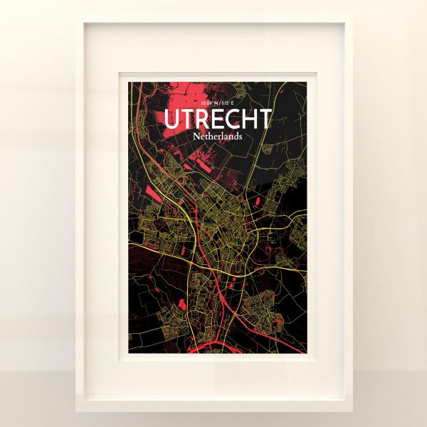 Utrecht City Map Poster by OurPoster.com