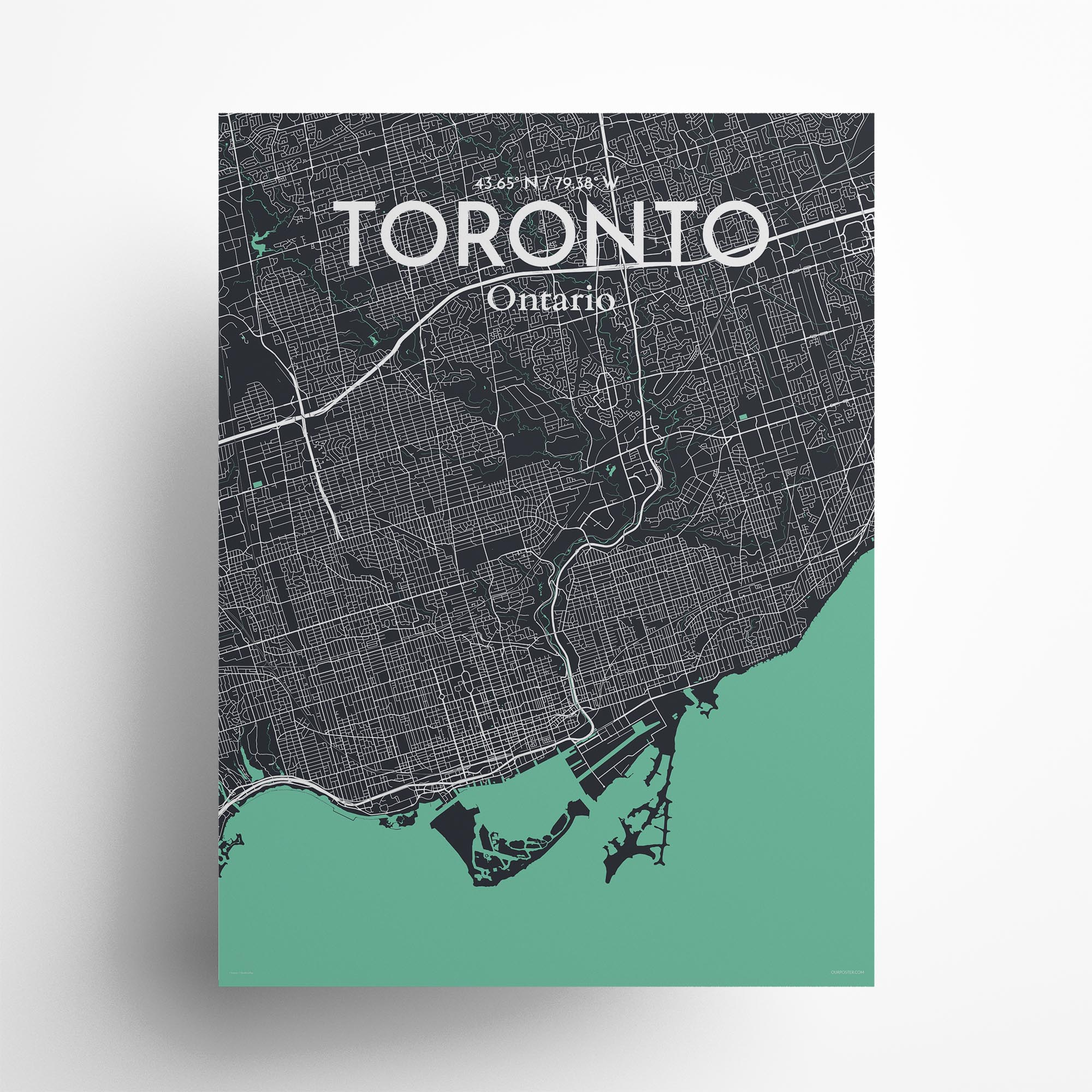 "Toronto city map poster in Dream of size 18"" x 24"""